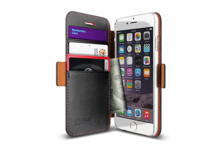 Verus Vivid Klop Diary for iPhone 6 Black/Pink