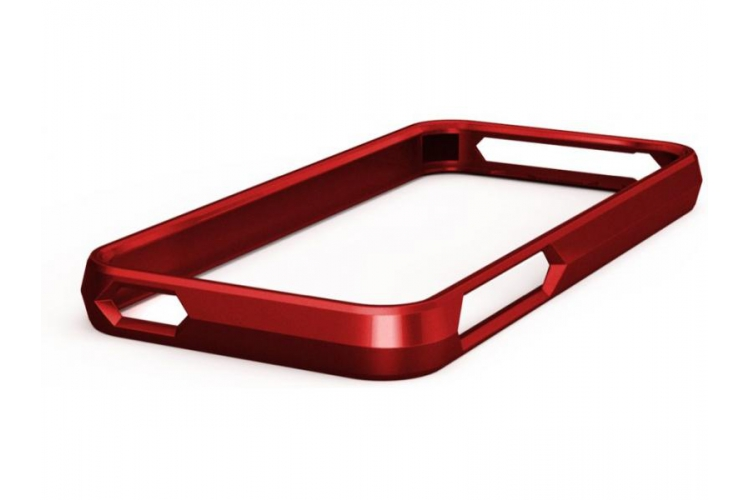 Macally Aluminium Frame for iPhone 5 red