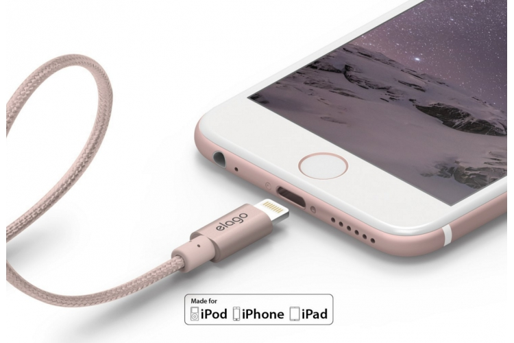 elago Aluminium Lightning Cable 1m Rose Gold