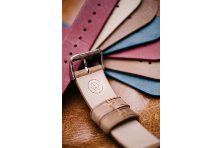 Monowear 42mm Watch Brown Leather Band/Stainless Steel