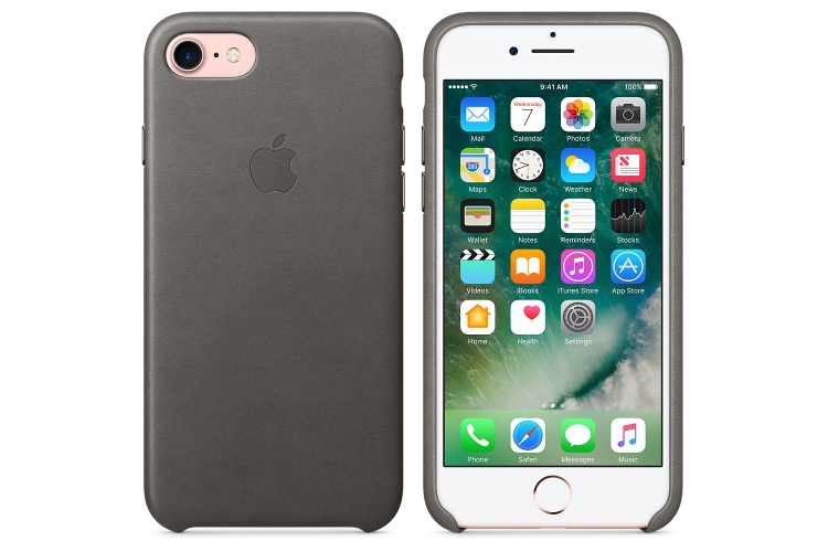 Apple iPhone 7 Leather Case Storm Grey