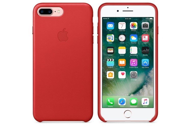 Apple iPhone 7 Plus Leather Case Red