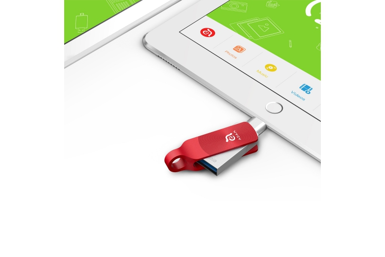 Adam Elements iKlips Duo+ 32GB Red