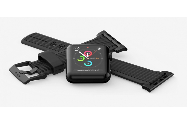 Nomad Silicone Strap for Apple Watch 42mm black