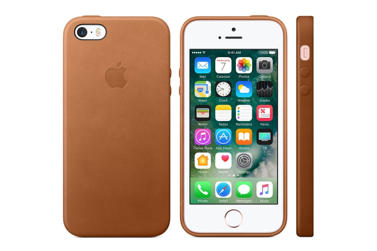 Obaly a púzdra iPhone iPhone SE Leather Case Saddle Brown  55f33968098