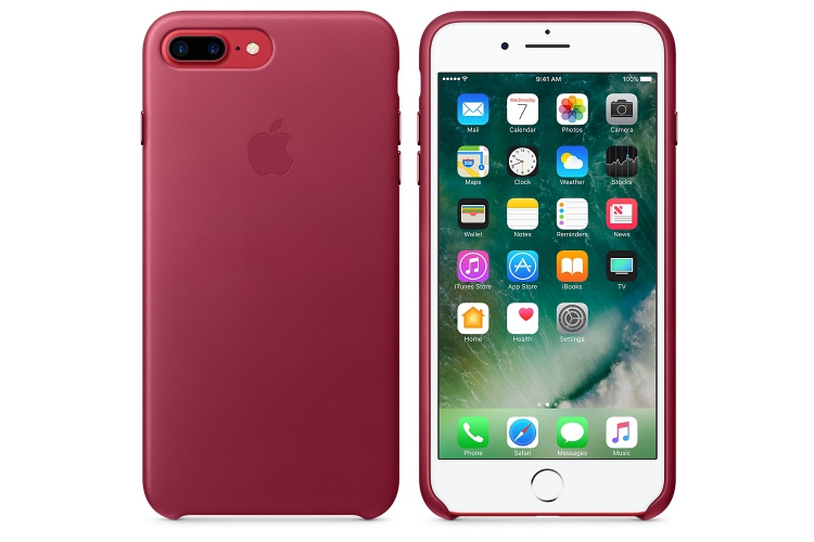 Apple iPhone 7 Plus Leather Case Berry
