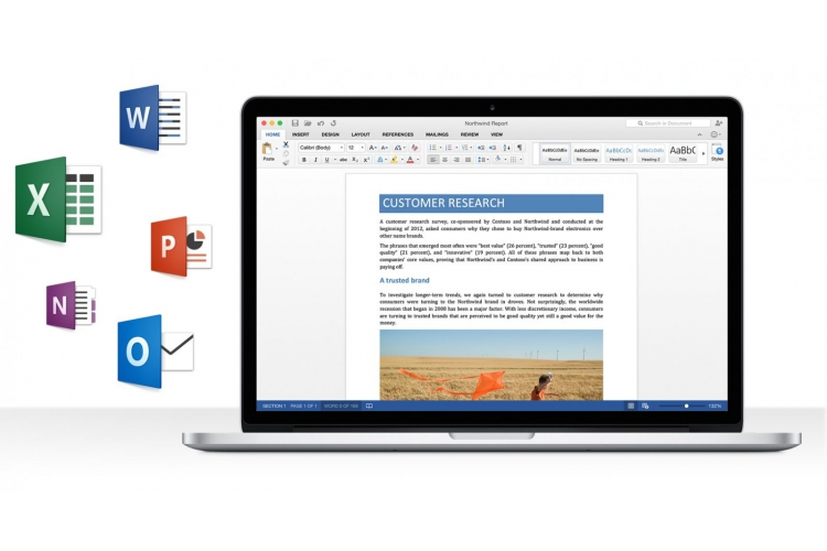 Microsoft Office Home & Student 2016 for Mac SK