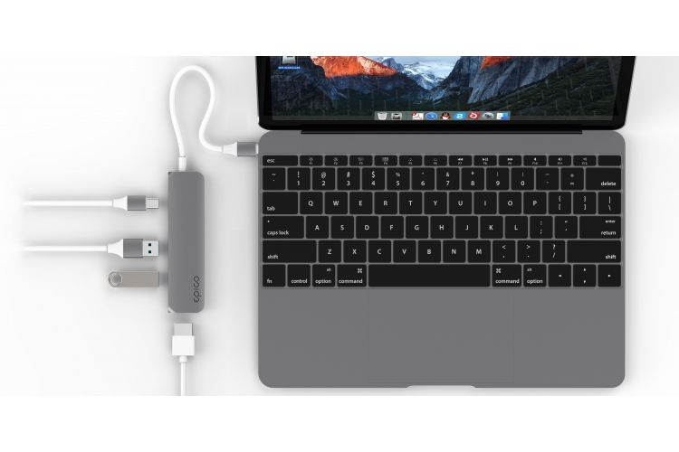 Epico USB Type-C Hub Multi-Port 4K HDMI Rose Gold