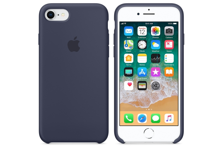 Apple iPhone 8 / 7 Silicone Case Midnight Blue
