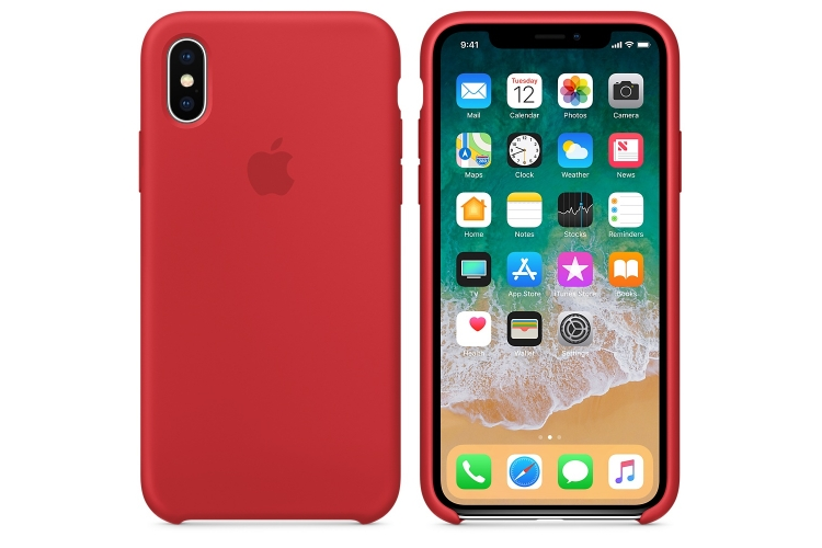 Apple iPhone X Silicone Case Red