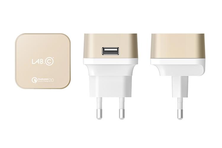Lab.C X1 USB Wall Charger 2 A Champagne Gold