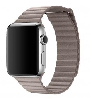Remienky Apple Watch 42mm Smoke Grey Leather Loop Large ...