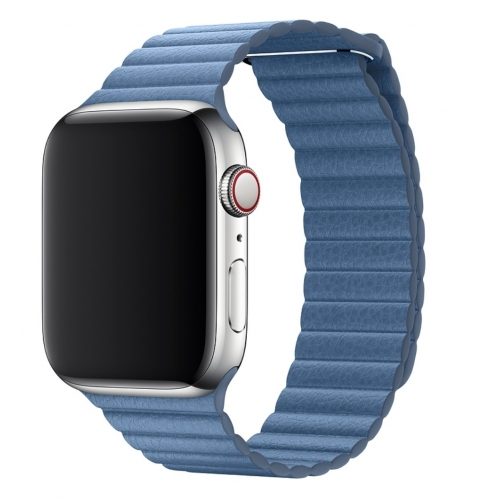 Apple 44mm Cornflower Leather Loop Medium