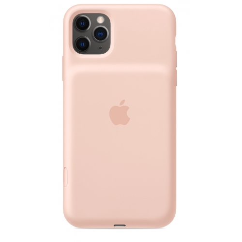 Apple iPhone 11 Pro Max Smart Battery Case with Wireless Charging Pink Sand