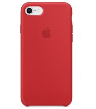 Apple iPhone 8 / 7 Silicone Case Red
