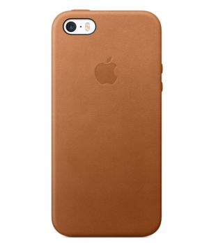Apple iPhone SE Leather Case Saddle Brown