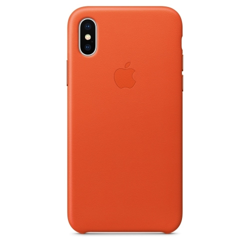 Apple iPhone X Leather Case Bright Orange