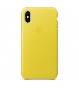 Apple iPhone X Leather Case Spring Yellow