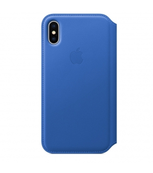 Apple iPhone X Leather Folio Electric Blue