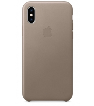 Obaly a púzdra iPhone iPhone XS Leather Case Taupe  e7b3ead6061