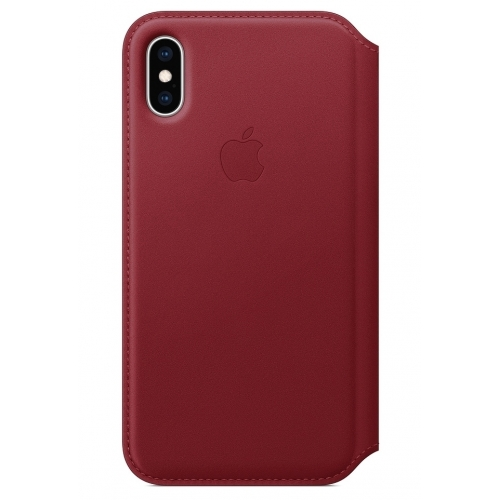 Apple iPhone XS Leather Folio Red