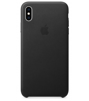 Obaly a púzdra iPhone iPhone XS Max Leather Case Black  de596cf68bc