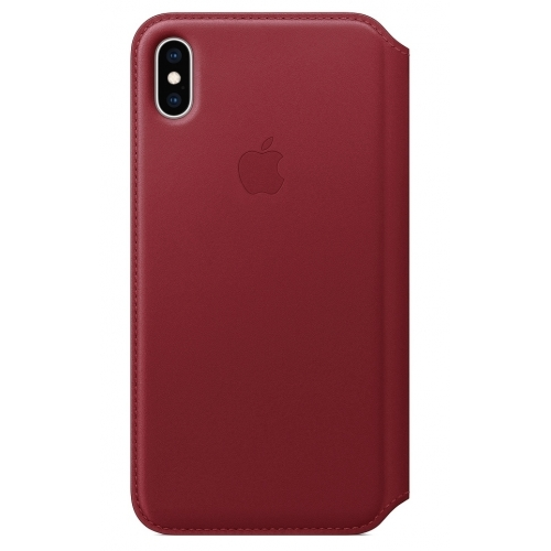 Apple iPhone XS Max Leather Folio Red