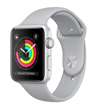 Apple Watch Series 3 GPS 38mm Silver Aluminium with Fog Sport Band