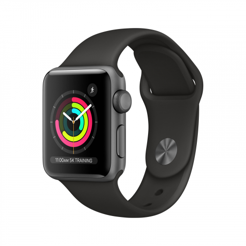 Apple Watch Series 3 GPS 38mm Space Grey Aluminium with Black Sport Band