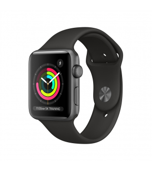 Apple Watch Series 3 GPS 42mm Space Grey Aluminium with Black Sport Band