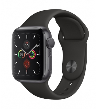 Apple Watch Series 5 GPS 40mm Space Grey Aluminium with Black Sport Band