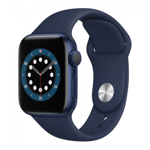 Apple Watch Series 6 GPS 40mm Blue Aluminium with Deep Navy Sport Band