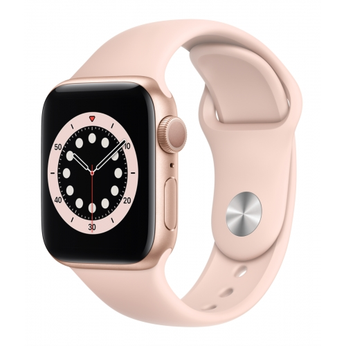 Apple Watch Series 6 GPS 40mm Gold Aluminium with Pink Sand Sport Band