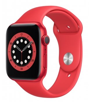 Apple Watch Series 6 GPS 44mm Red Aluminium with Red Sport Band