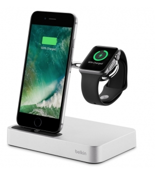 Belkin Valet Charge Dock for iPhone and Apple Watch Silver