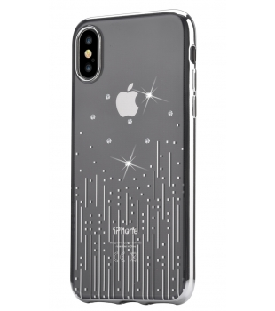 Obaly a púzdra iPhone Crystal Meteor iPhone X XS Silver  410e4543c52
