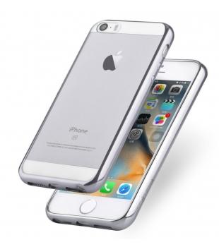 Obaly a púzdra iPhone Glitter Soft iPhone 5 5s SE Silver  47cc1579cdb