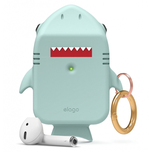 elago Shark Case for Apple Airpods Baby Mint