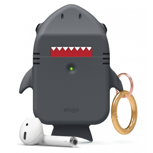 elago Shark Case for Apple Airpods Dark Grey