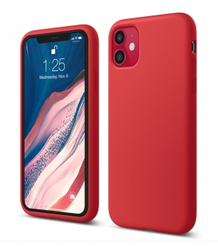 elago Silicone Case iPhone 11 Red