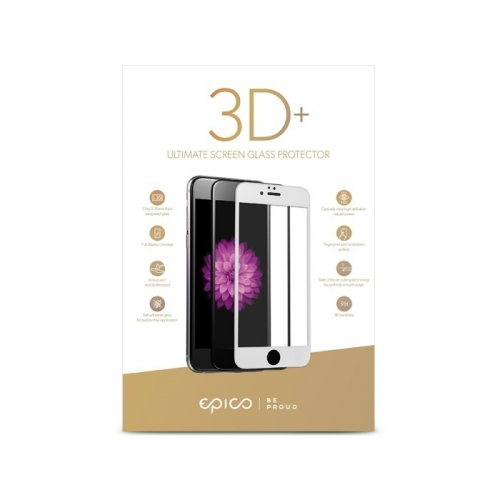 Epico Glass 3D+ iPhone 7 Plus/8 Plus white