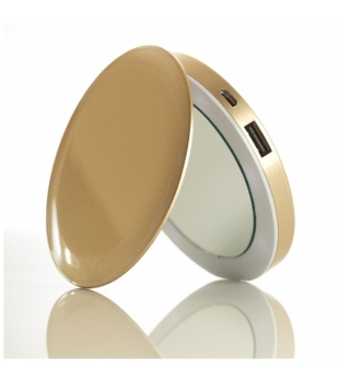 HYPER Pearl Make-up Mirror & PowerBank Gold