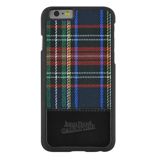 Jean Paul Gaultier Back Cover iPhone 6/6s Black Tartan