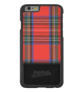 Jean Paul Gaultier Back Cover iPhone 6/6s Red Tartan