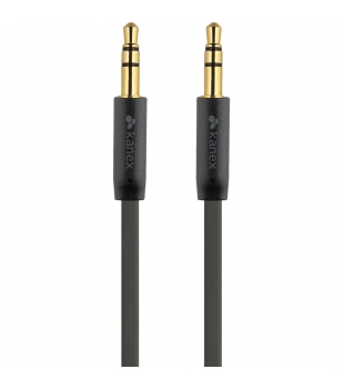 Kanex Stereo AUX Flat Audio Cable 1,8m black