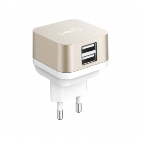 Lab.C X2 USB Wall Charger 2.4 A Champagne Gold