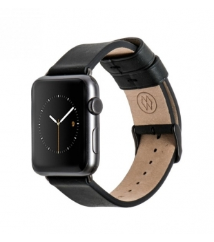 Monowear 42mm Watch Black Leather Band/Space Grey