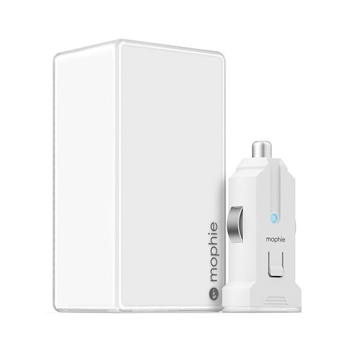 Mophie Dual Wall and Car Charger 4.2A white