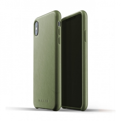 MUJJO Full Leather Case for iPhone XS Max Olive Green