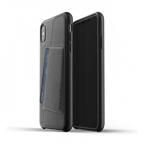 MUJJO Full Leather Wallet Case for iPhone XS Max Black
